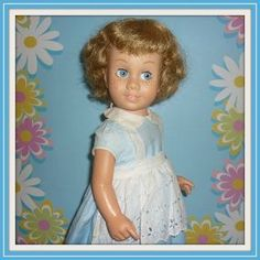 1960's Dee Cee Canadian Chatty Cathy Doll + Outfit-Bob Hair-Glassiene - Doll-lighted To Meet You! #dollshopsunited