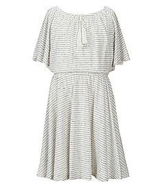 Copper Key Big Girl 716 Striped Midi Peasant Dress #Dillards
