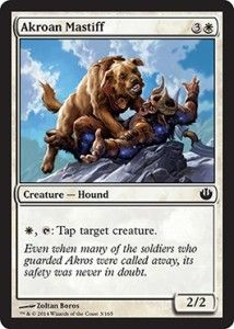 Akroan Mastiff from Journey into Nyx Spoiler