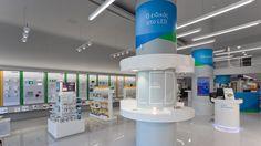 Kafkas Stores Retail Concept Creation by Stirixis Group, Greece Mobile Shop Design, Electrical Stores, Retail Store Design, Retail Shop, Store Layout, Retail Concepts, Store Fixtures, Showcase Design, Shop Interior Design