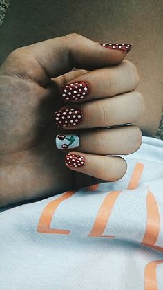 #nail #cherry #dots #holiday