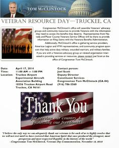 VETERANS RESOURCE DAY TRUCKEE CA APRIL 17 2014 http://military-civilian.blogspot.com/2014/03/veterans-resource-day-truckee-ca-april.html