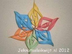 Van papier gemaakt ster