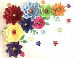 Large Paper Flowers Backdrop, Paper Flower Backdrop, Paper Flower Wall Decor, Flower Wall Decor Nursery, Giant Flower Backdrop