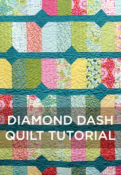 New Friday Tutorial: The Diamond Dash Quilt! (The Cutting Table Quilt Blog)
