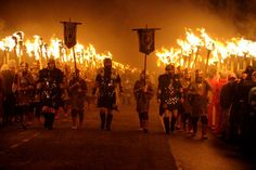 Up-Helly-Aa  Viking Festival of Flames  January in the Shetland Islands, UK