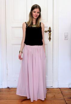 Terrorbambi - pink maxi skirt  http://rstyle.me/n/hsna5yjnw