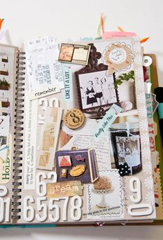 SMASH book pages. I could easily become addicted to this. Much more my style than a scrapbook.