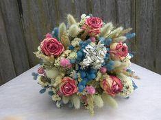 Dried rose bouquet blush rose bouquet wedding bouquet