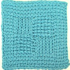 Sampler Washcloth Tunisian Crochet Pattern Using : Tss – Tunisian Simple Stitch Tks – Tunisian Knit Stitch Trs – Tunisian Reverse Stitch