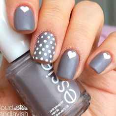 Bright And Trendy Polka Dots To Refresh Your Nails ❤ Grey Shades With Dotticure Nail Art picture 1 There is nothing complex about polka dots, but the charm they bring to your nails is mind-blowing. We welcome you to have a look and take a pick of your possible next polka dot manicure.https://naildesignsjournal.com/polka-dots-nails/ #nails #nailart #naildesign  #polkadotsnails