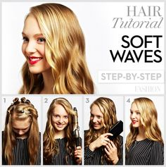 Perfect waves! Learn how to do loose curls. #hair #tutorial #curls #waves