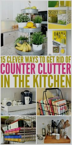 The best kitchen organization hacks I've come across! Get the clutter on your kitchen counter under control today with these organizing and decouttering tips. #clutter #kitchenideas #kitchen