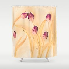 Vintage tulips(2). Shower Curtain