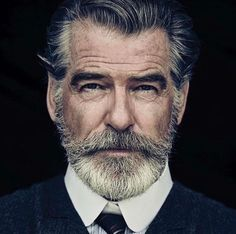 Pierce Brosnan is looking incredible at this age with his well-groomed beard. Definitely what I want to look like at his age.