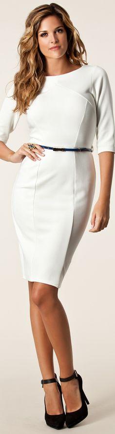 I love a crisp white dress!