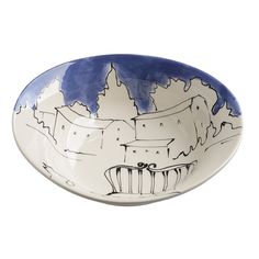 Appunti di Viaggio Violet Serving Bowl