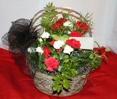 FOR FUNERAL PARLOR AND FOR HOME Fresh flower arrangement or plant can be delivered to a visitation, service, business or residence of your choice. Garden Basket, Scripture Cards, Fresh Flowers, Grapevine Wreath, Funeral, Flower Arrangements, Christmas Wreaths, Floral Design, Holiday Decor