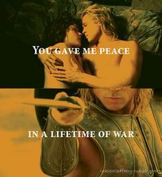 Achilles and Bresies #troy