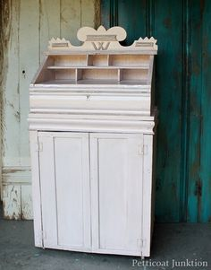 metallic silver gold blush pink painted furniture makeover, Petticoat Junktion #marthastewart