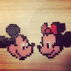 Mickey and Minnie Mouse hama beads by bianca11483