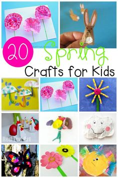 So many adorable spring crafts for preschoolers, kindergartners, and elementary kids! Great spring art project ideas.
