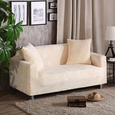 Beige universal stretch sofa covers multi-size elastic home decoration couch/corner sofa covers anti-dirty polyester slipcovers