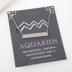 Aquarius necklace silver Aquarius constellation necklace Aquarius zodiac Aquarius jewelry Aquarius gifts best friend birthday by StatementMadeUK
