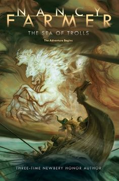 The Sea of Trolls (Sea of Trolls #1) by Nancy Farmer. The year is A.D. 793. In the next months, Jack and his little sister, Lucy, are enslaved by Olaf One-Brow and his fierce young shipmate, Thorgil. With a crow named Bold Heart for mysterious company, they are swept up into an adventure-quest that follows in the spirit of The Lord of the Rings.  Other threats include a willful mother Dragon, a giant spider, and a troll-boar with a surprising personality -- to say nothing of Ivar the…