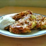 Zucchini season is upon us, and already neighbors are coming by with bounty to share. Here is a favorite recipe for zucchini fritters, which look a lot like potato latkes, except without the potato. A tasty, easy option if you are trying to get your kids to eat more veggies. Plain yoghurt works just as well as a condiment with these as sour cream.