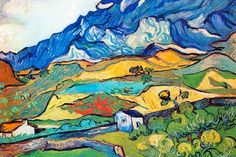 Us 1070 Wall Art Les Alpilles Mountain Landscape Near South Reme By Vincent Van Gogh Paintings On Canvas Handmade High Quality In Painting Amp Art Van, Van Gogh Art, Van Gogh Pinturas, Van Gogh Landscapes, Landscape Paintings, Landscape Art, Vincent Willem Van Gogh, Ouvrages D'art, Van Gogh Paintings