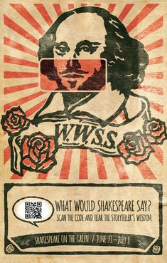 What Would Shakespeare Say? #QRCode