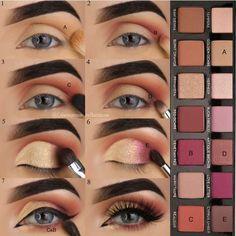 Modern Renaissance palette Modern Renaissance palette - Das schönste Make-up Makeup Goals, Makeup Inspo, Makeup Inspiration, Makeup Tips, Beauty Makeup, Eyeshadow Looks, Eyeshadow Makeup, Simple Eyeshadow, Modern Renaissance Palette Looks