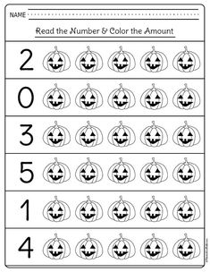 Halloween math activities kindergarten students and teachers need! I am glad I don't need to look for kindergarten math printables any longer. Use these free printables for extra homework or kindergarten math centers. Fall Preschool, Preschool Math, Kindergarten Worksheets, Math Activities, Halloween Crafts For Kindergarten, Halloween Crafts For Toddlers, Spanish Activities, Halloween Math Worksheets, Homeschool Kindergarten