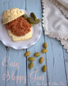 Easy Sloppy Joes - ground beef (sub chicken/turkey) onion celery minced garlic tomato paste water/beef broth Swerve confectioners/stevia glycerite coconut vinegar mustard Celtic sea salt pepper Free Keto Recipes, Ketogenic Recipes, Low Carb Recipes, Real Food Recipes, Keto Foods, Ketogenic Diet, Bread Recipes, Healthy Recipes, Low Carb Bread