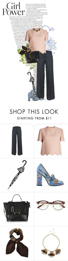 """""""Girl power"""" by vilena ❤ liked on Polyvore featuring Guide London, Emma Watson, Great Plains, Valentino, Burberry, Gucci, Diane Von Furstenberg and Marni"""