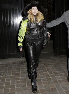 Madonna hit the streets in style.