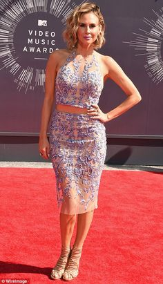 Keltie Knight donned an intricately embroidered two-piece at the 2014 VMAs http://dailym.ai/1oluLIj