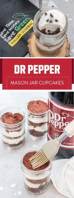 Ready for a dessert and a budget-friendly entertaining hack that's worthy of a touchdown? Check out this recipe for Dr Pepper® Mason Jar Cupcakes and the Dr Pepper Dollar General rewards program! Thanks to make-ahead prep, sweet soda-soaked cake, and mess-free presentation, this homemade treat is sure to be a hit with your game day guests. Be sure to pick up the ingredients you'll need to tackle this dish without breaking the bank by heading to Dollar General.