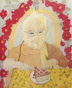 Grandma Layton, eating pie.