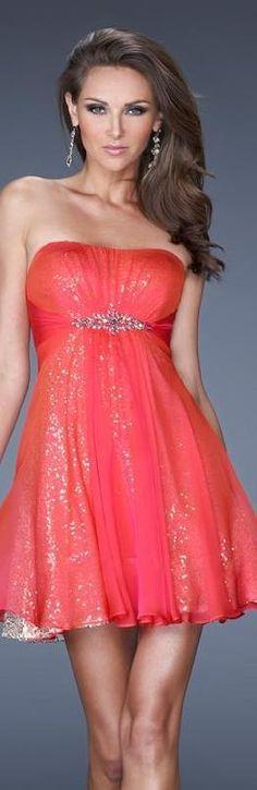 Fashion Short Chiffon Empire Sleeveless Red Evening Dresses