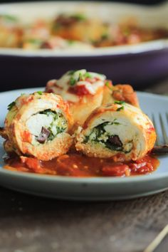 Spinach and Feta Stuffed Chicken Breasts  #justeatrealfood #primaverakitchen