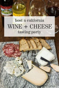 How to Host a California-Themed Wine & Cheese Tasting Party (plus win a California Wine Club Giveaway) Wine And Cheese Party, Wine Tasting Party, Wine Cheese, Wine Party Appetizers, Wine Parties, Sweet Champagne Brands, California Wine Club, California Style, Wine Country Gift Baskets
