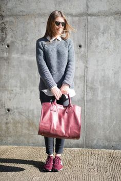 New Balance Outfit, New Balance Sneakers, Sneakers Style, Winter Outfits, Cool Outfits, Casual Outfits, Working Girl, Bordeaux, Girl Fashion