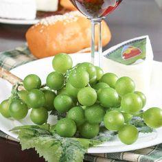 Artificial Green Grape Cluster Stem