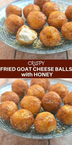 Fried goat cheese balls with honey are this holiday season's appetizer of choice! A delightful combination of sweet, creamy and crunchy, they're sure to be a party favorite! dinner appetizers Fried Goat Cheese Balls with Honey - Onion Rings & Things Snacks Für Party, Appetizers For Party, Appetizer Recipes, Snack Recipes, Cooking Recipes, Easy Recipes, Delicious Appetizers, Dinner Party Recipes, Cheese Appetizers