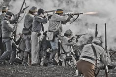 Confederates open fire