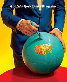 Maurizio Cattelan and Pierpaolo Ferrari: The New York Times Magazine cover (detail)