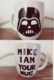 DiaryDIY: DIY•Painted Mugs Check out this blog!! Star Wars mug!
