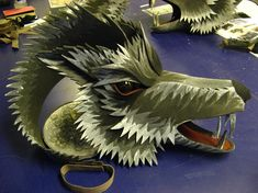 His Dark Materials - Birmingham REP - One of Three duplicate wolf puppets made for His Dark Materials, 2009. Designed by Blind Summit Theatr...